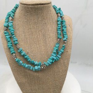 Premier Designs Retired Beads Faux Turquois Silver